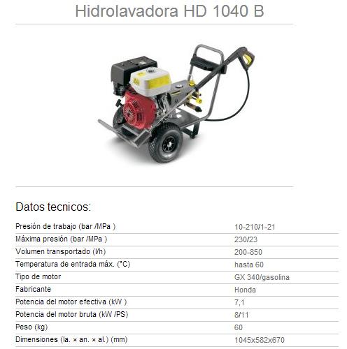 karcher hd 801 b manual